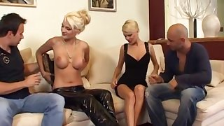 Two Arousing Comme ci Europeans Fucked In Foursome