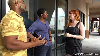 Curvaceous white milf Lauren Phillips is fucked by several hot blooded black guys
