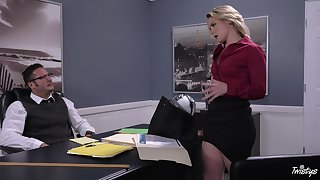 Energized office MILF is obtainable for her dose of bushwa