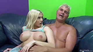 Adorable blondie Christie Stevens opens her legs to be fucked
